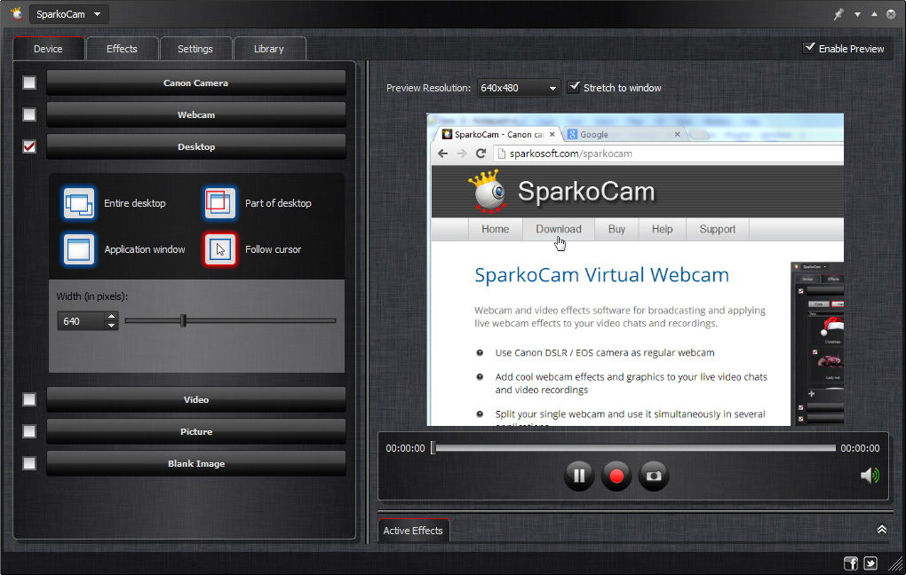 How to Stream Desktop as Webcam Video | Sparkosoft